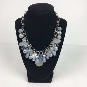 Vintage | Silver Tone Beaded Statement Necklace